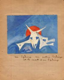 Serge Sauphar, gouache sur papier,  11/14, s.d.(vers 1949), provenance: Dr Jean Dublineau