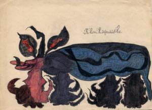 Gaston Duf, crayons sur papier, 24/34, s.d.(avant 1950), provenance: Dr Paul Bertrand